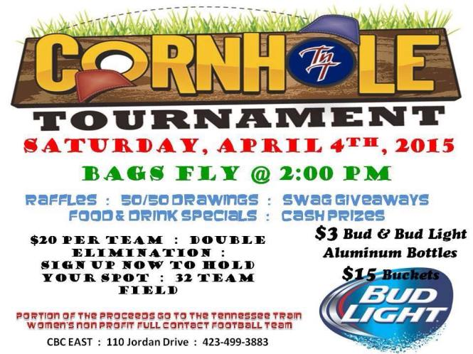 Cornhole Tournament – Original Invitation – Tennessee Train